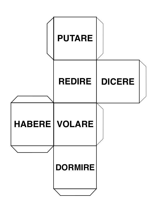 PUTARE REDIRE DICERE HABERE VOLARE DORMIRE