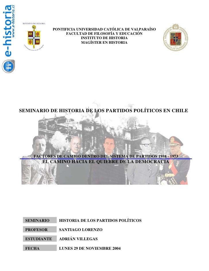 PONTIFICIA UNIVERSIDAD CATÓLICA DE VALPARAÍSO                      FACULTAD DE FILOSOFÍA Y EDUCACIÓN                      ...
