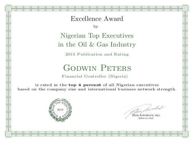 qmmmmmmmmmmmmmmmmmmmmmmmpllllllllllllllll Excellence Award by Nigerian Top Executives in the Oil & Gas Industry 2015 Publi...