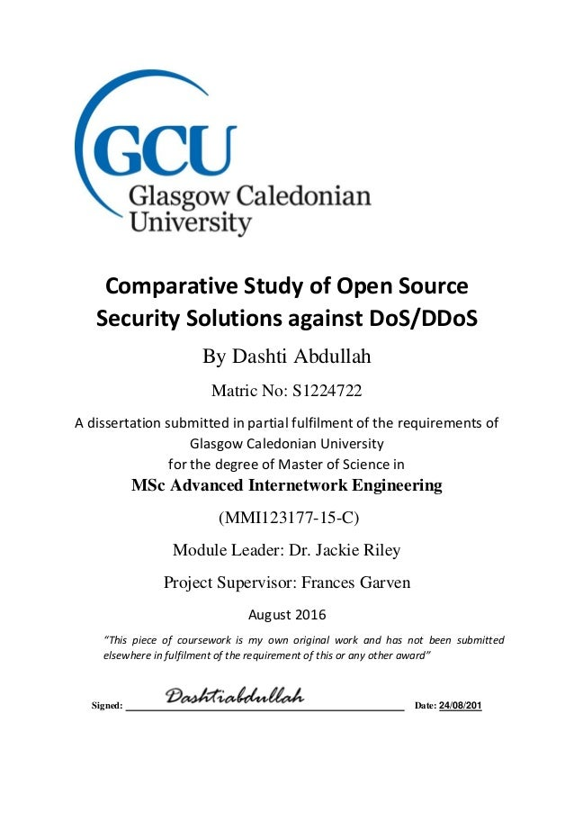 Comparative Study of Mod Security (Autosaved)