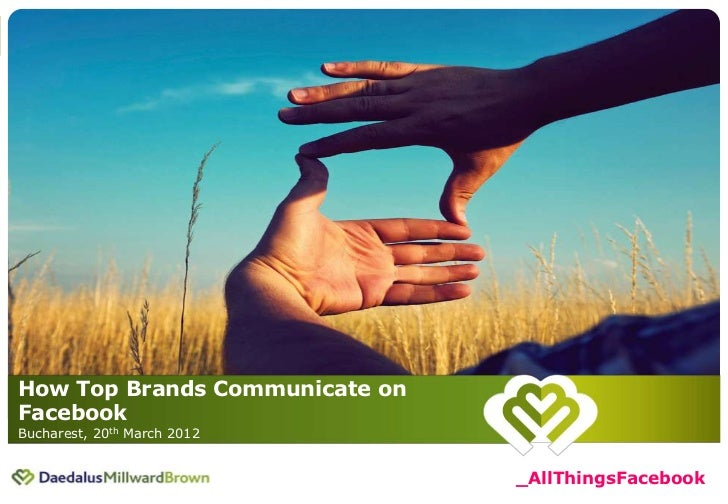 20 March 2012 | How Top Brands Communicate on Facebook                                                                    ...