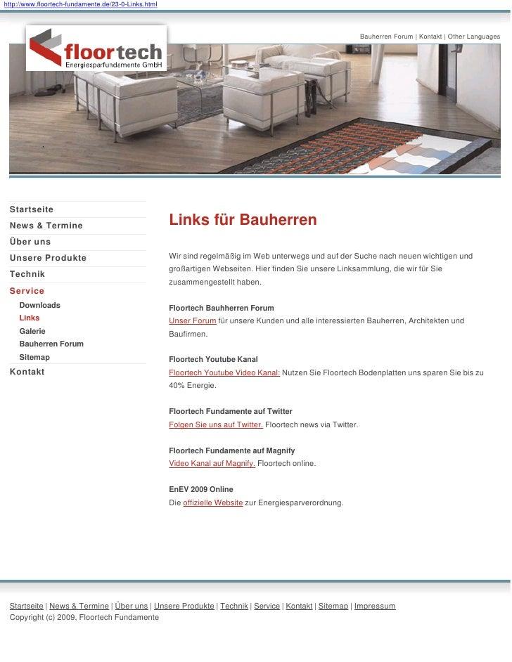 http://www.floortech-fundamente.de/23-0-Links.html                                                                        ...