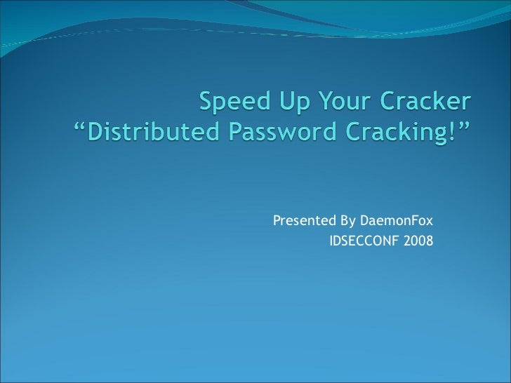 Presented By DaemonFox        IDSECCONF 2008