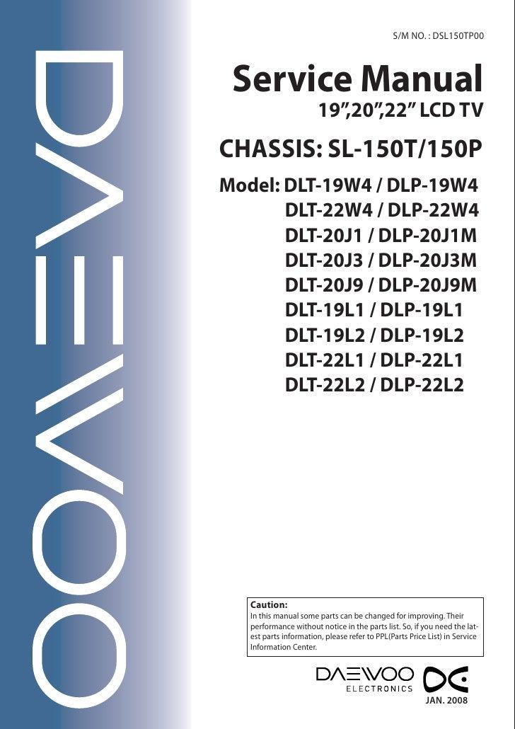 daewoo service sl 150 t sl 150p rh slideshare net Makers Service Repair Manual Appliance Repair Service Manuals