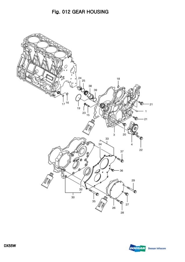 Daewoo doosan dx55 w wheeled excavator service repair manual