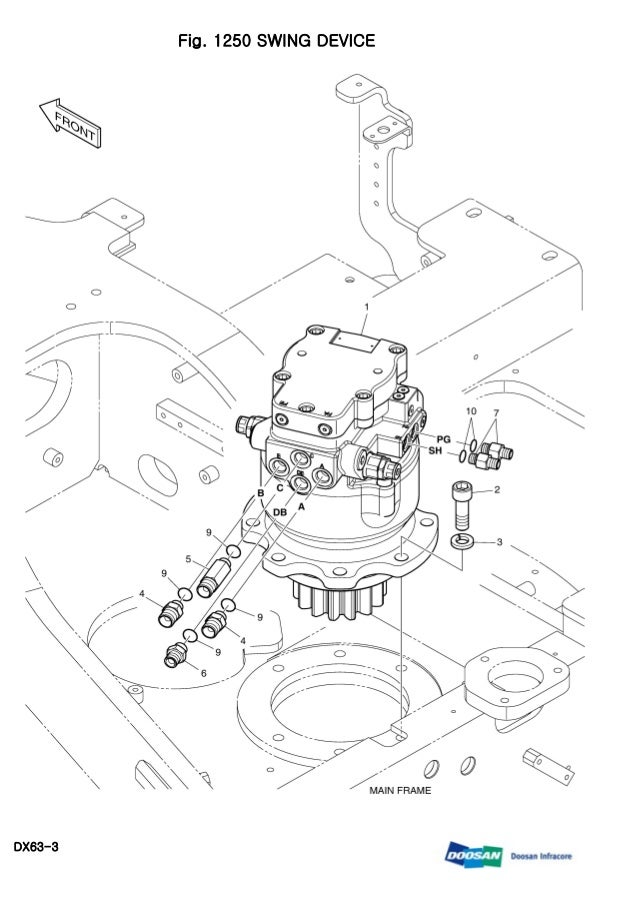 Daewoo Doosan Dx63 3 Mini Crawler Excavator Service Repair Manual