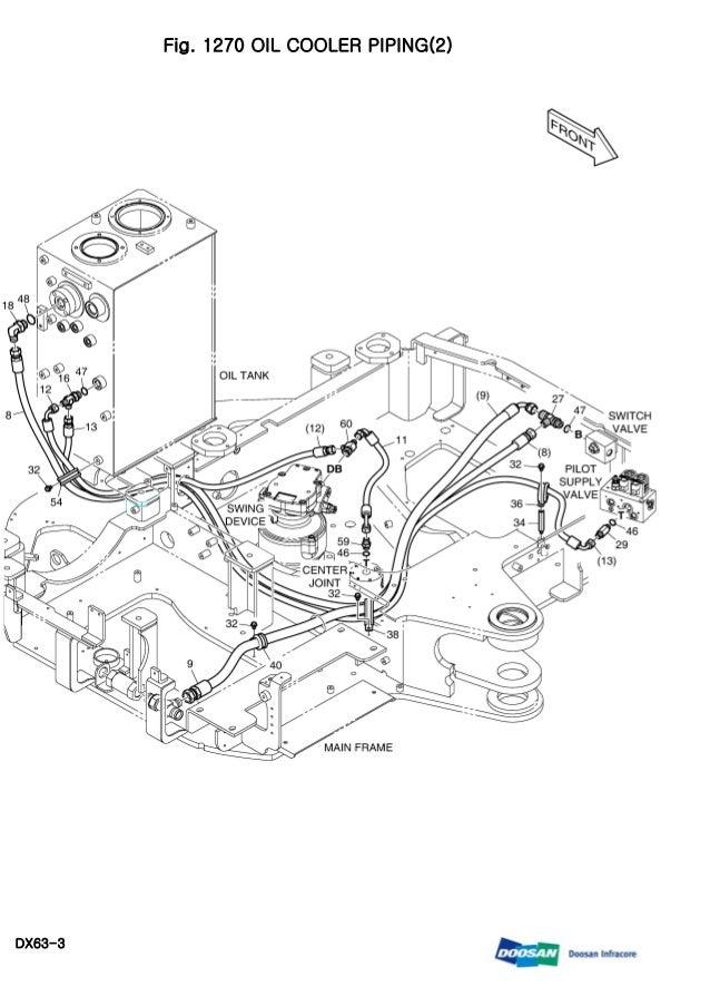 Daewoo doosan dx63 3 mini crawler excavator service repair