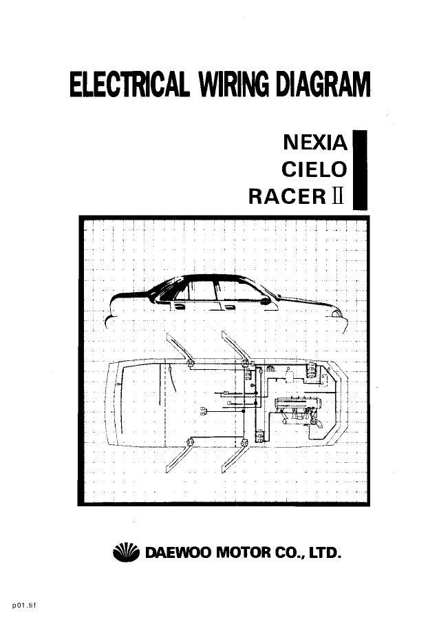 daewoo service electrical manual rh slideshare net daewoo espero wiring diagram daewoo wiring diagram