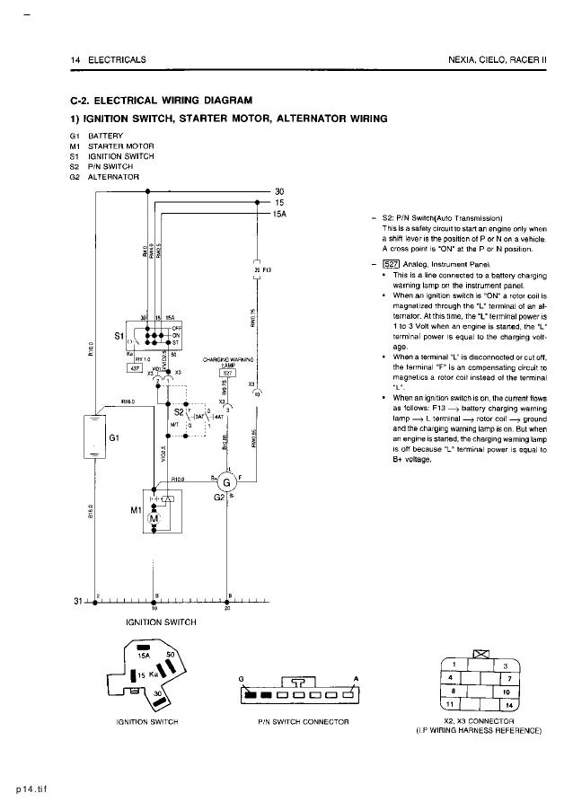 Wiring Diagram For Daewoo Cielo - Wiring Diagram M2 on