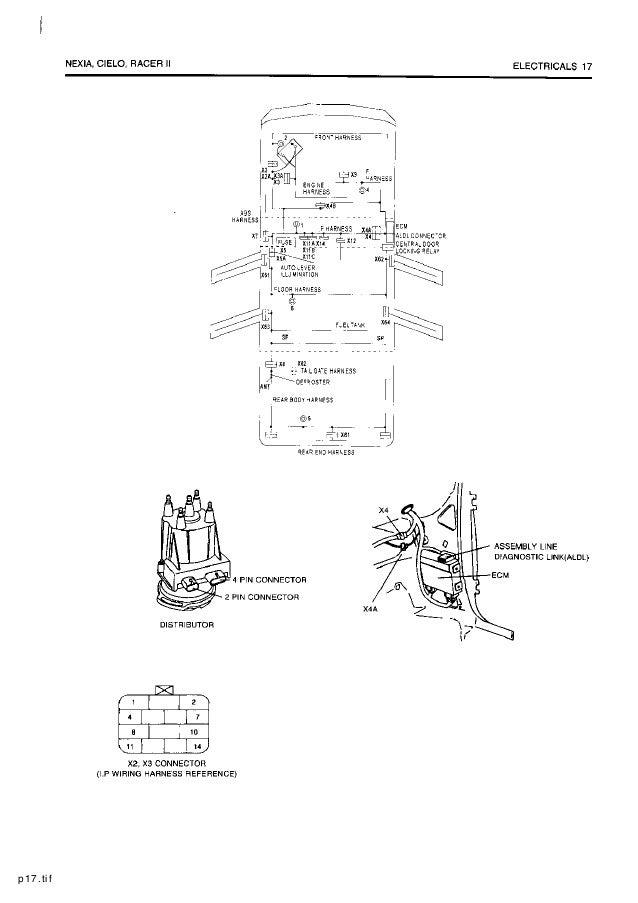daewoo service electrical manual  1997 daewoo cielo wiring diagram #20