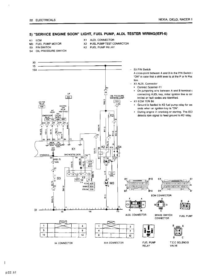 Daewoo Start Wiring Diagram - All Diagram Schematics on