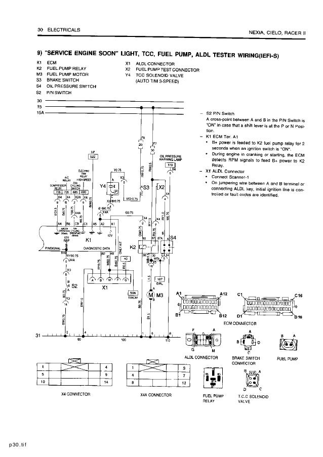 Electrical wiring diagram for mazda millenia