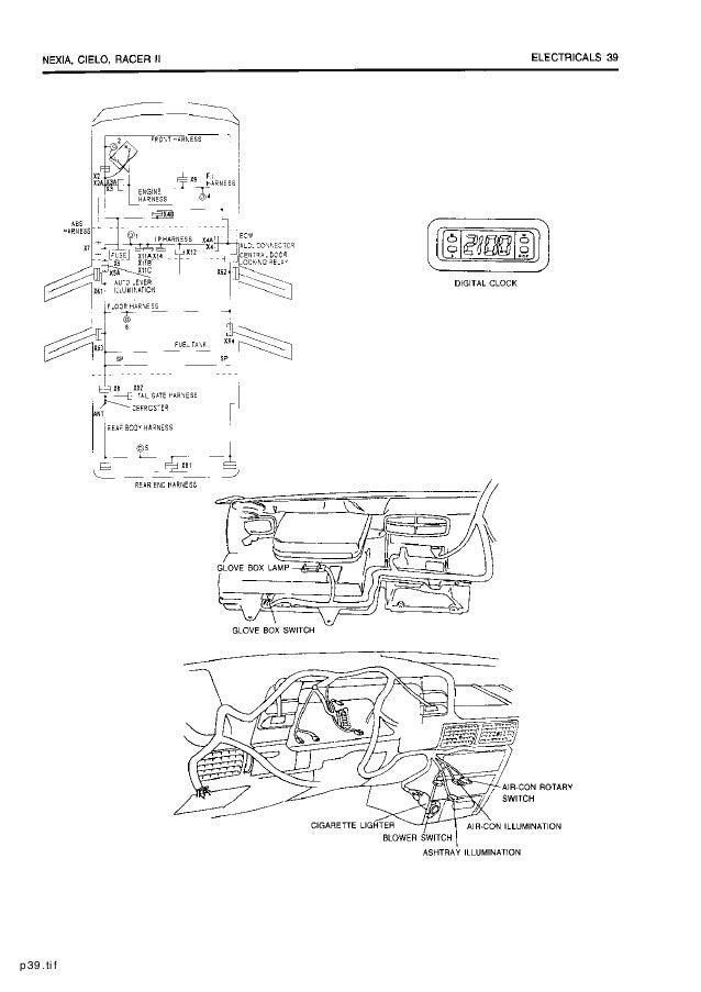 Daewoo Cielo Fuse Box Diagram