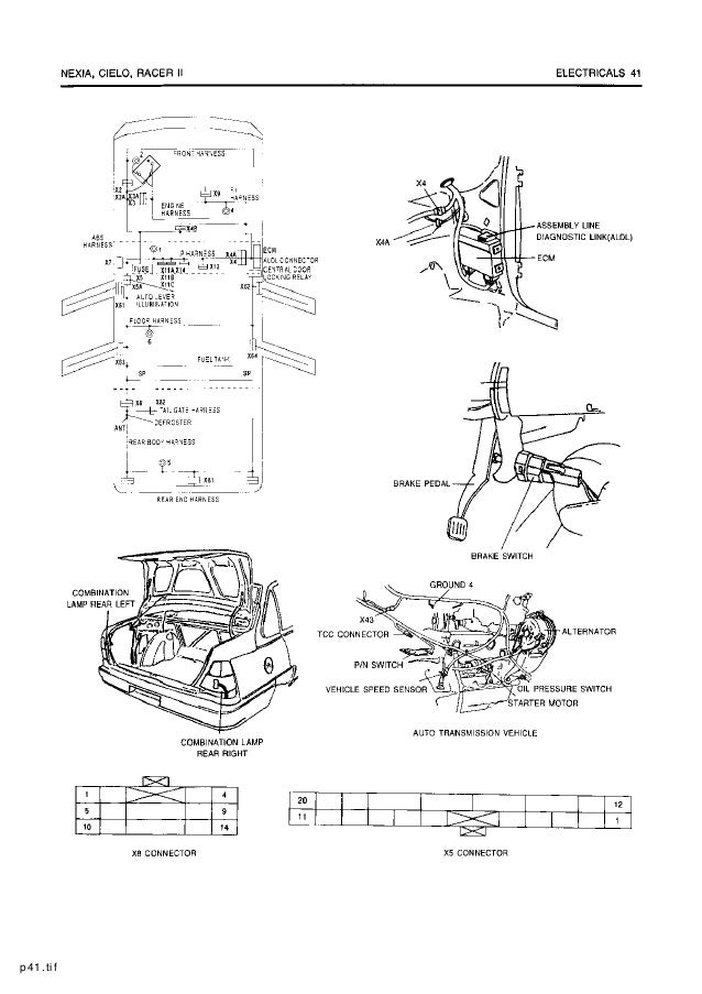 daewoo service electrical manual rh slideshare net Ford Automatic Transmission Diagram GM Turbo 350 Transmission Diagram