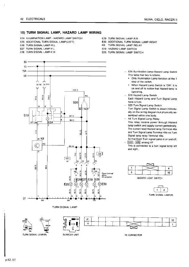 daewoo service electrical manual rh slideshare net daewoo cielo ignition wiring diagram daewoo cielo distributor wiring diagram