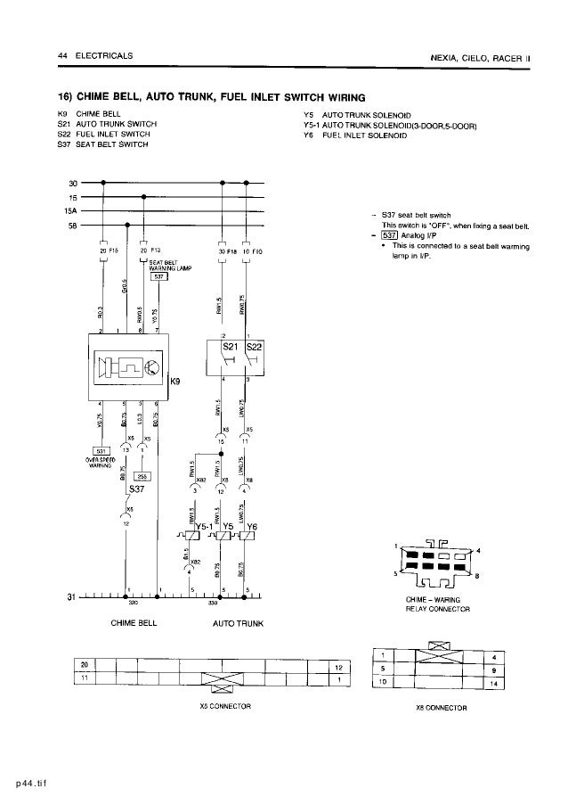daewoo service electrical manual rh slideshare net daewoo cielo distributor wiring diagram daewoo cielo electrical wiring diagram