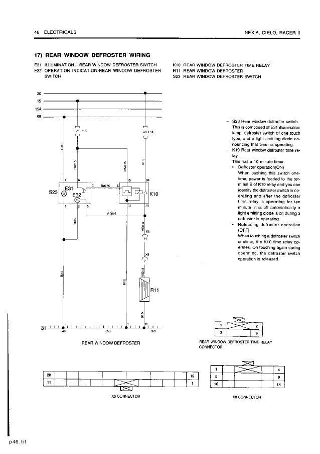 daewoo service electrical manual 1997 daewoo lanos 1997 daewoo cielo wiring diagram #7