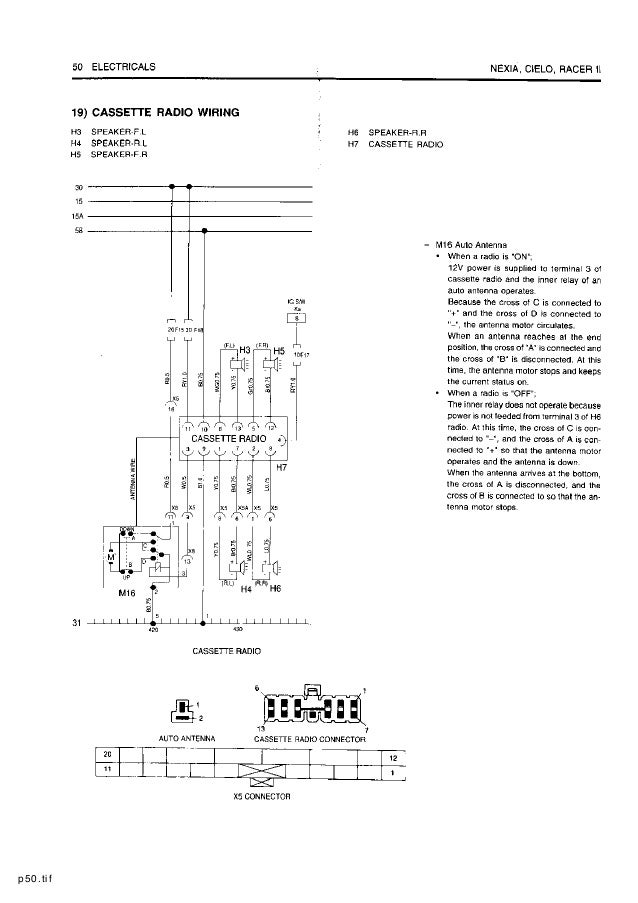Daewoo Cielo Electrical Wiring Diagram Free Download