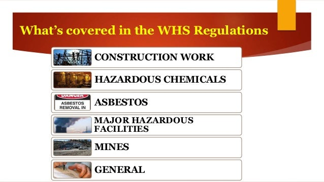Safety in Design - Requirements of WH&S Legislation
