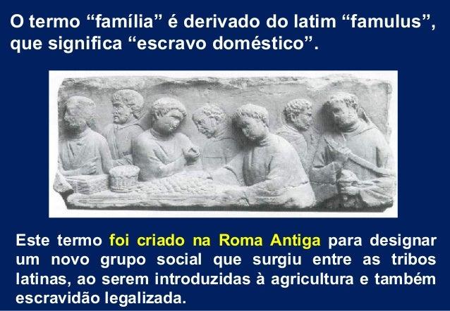 Da família patriarcal às novas concepções de família no mundo contemporâneo Slide 2