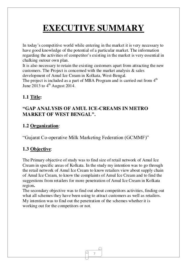 market analysis summary pdf