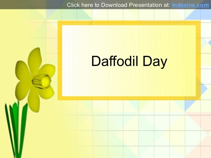 Daffodil day powerpoint presentation daffodil day click here to download presentation at indezine toneelgroepblik Image collections