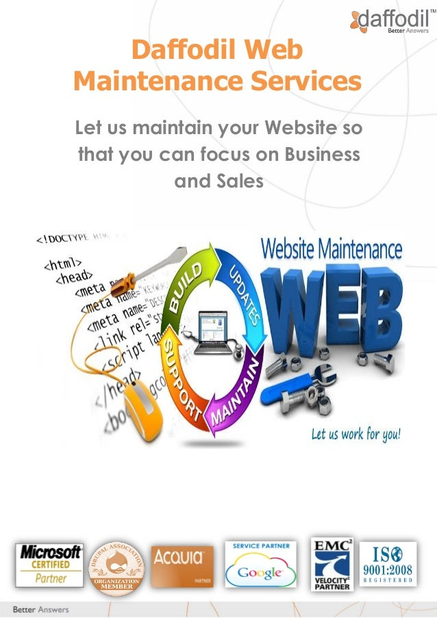 Daffodil Web Maintenance Services Let us maintain your Website so that you can focus on Business and Sales
