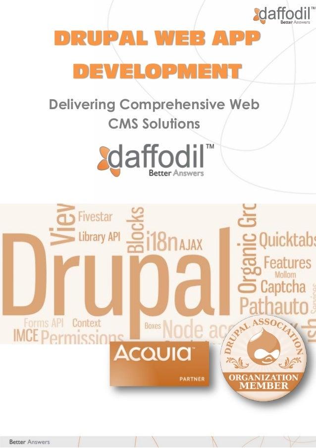 daffodil corporate resume drupal development services