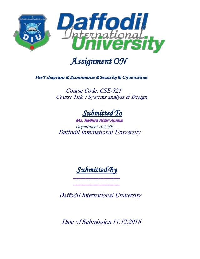Daffodil international university cover page for Assignment front page decoration