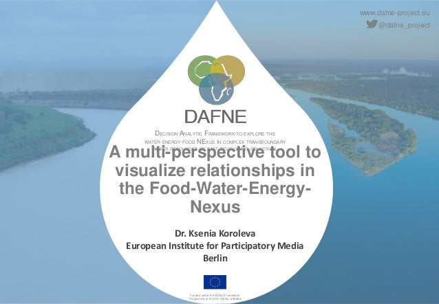 www.dafne-project.eu @dafne_project DECISION ANALYTIC FRAMEWORK TO EXPLORE THE WATER-ENERGY-FOOD NEXUS IN COMPLEX TRANSBOU...