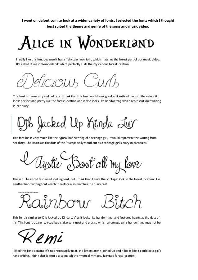 I Went On Dafont To Look At A Wider Variety Of Fonts