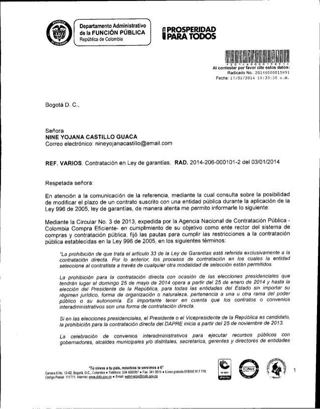 Dafp15891 Adicion Prorroga En Contrato Ley Garantias