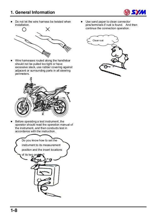Dafra next 250 manual de servico em ingles (sym wolf)