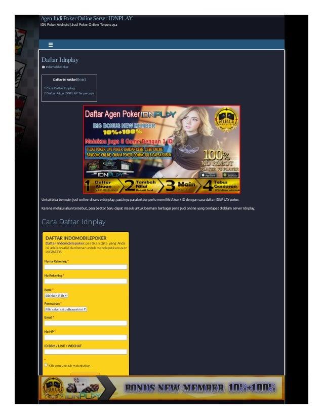 Daftar Idnplay Idnplay Poker Online Deposit 10000 10rb