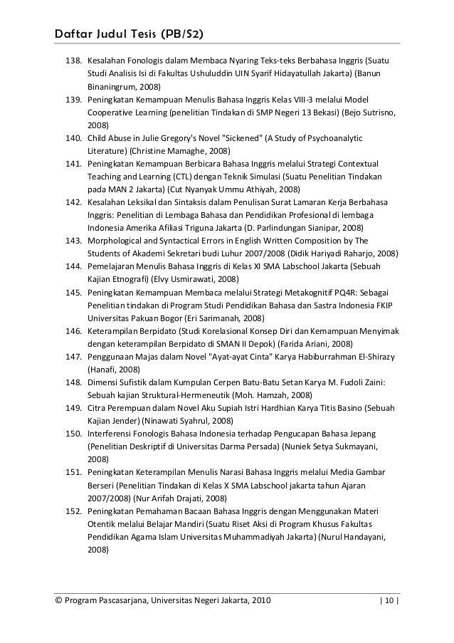 contoh proposal tesis s2 pendidikan bahasa indonesia Contoh proposal penelitian about contact  tesis dapat ditulis dalam bahasa indonesia atau bahasa inggris (salah satu saja)  contoh sampul tesis (lampiran 1 .