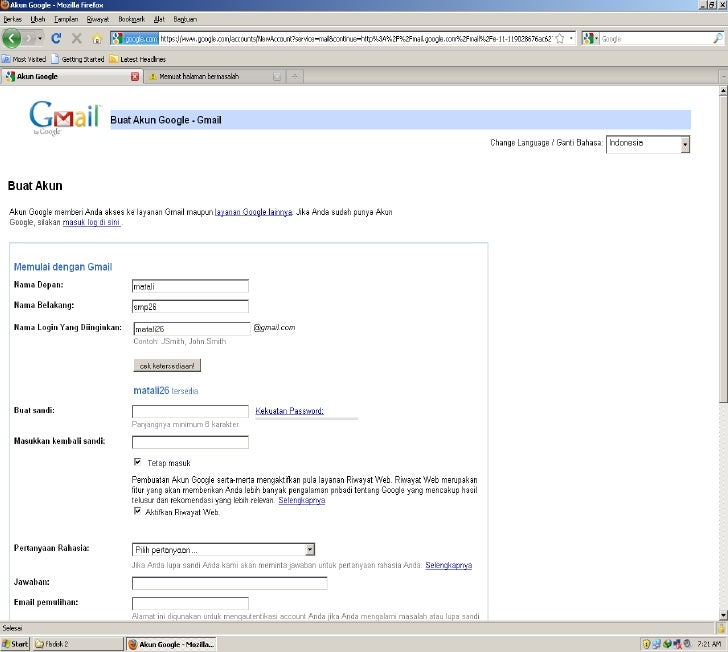 Daftar gmail.com