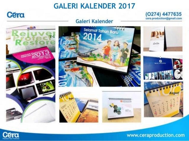 Harga cetak kalender dinding 2017 terbaru
