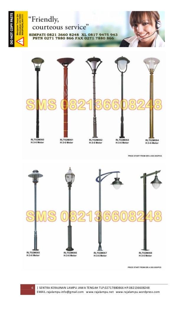 Daftar Harga Tiang Lampu Taman Tipe Rlt02m