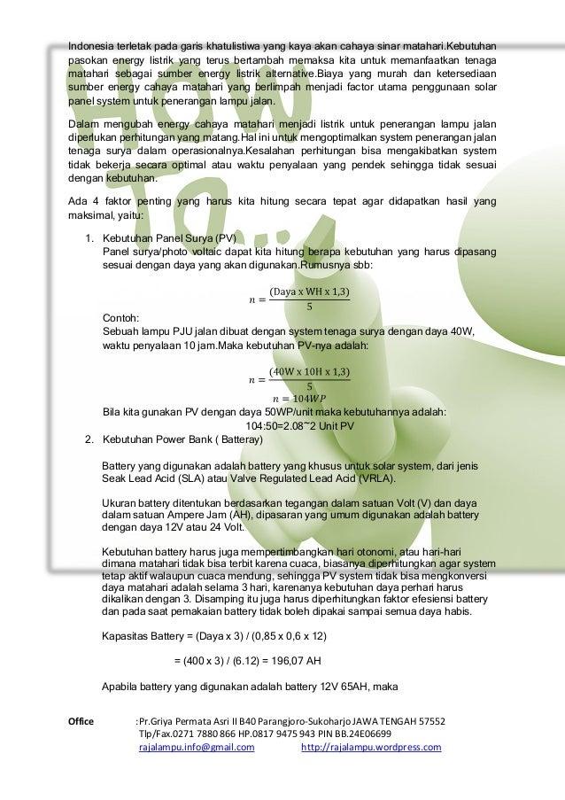 Daftar Harga  Tiang PJU Tenaga Surya & Katalog Paket Tenaga Surya 2015 Slide 2