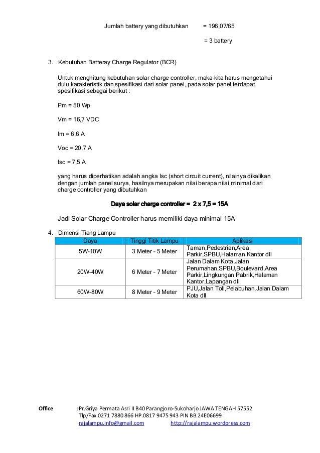 Daftar Harga  Tiang PJU Tenaga Surya & Katalog Paket Tenaga Surya 2015 Slide 3