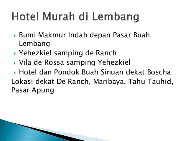 Hotel Murah Di Bandung Dan Lembang