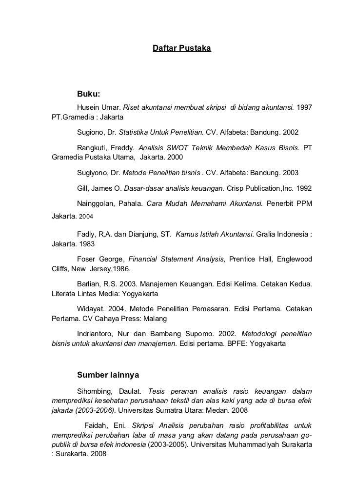 Daftar Pustaka Skripsi Akuntansi Keuangan لم يسبق له مثيل الصور Tier3 Xyz