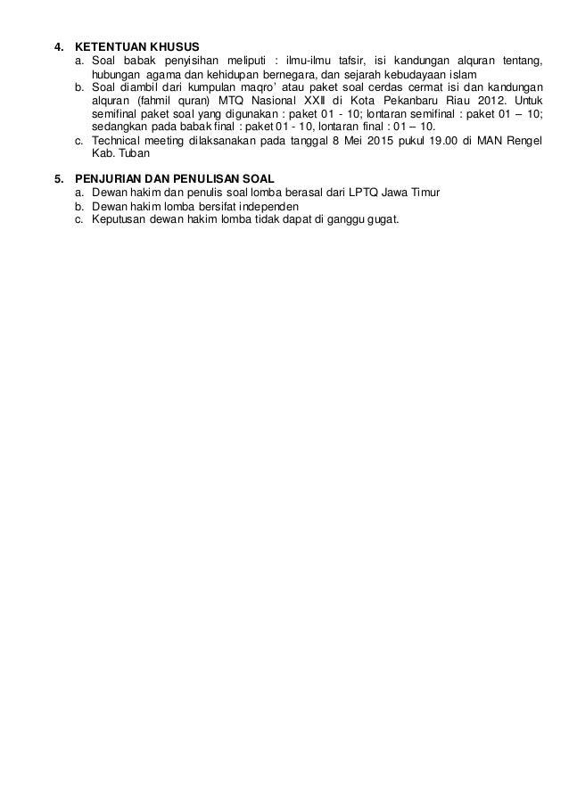 Daftar Isi Petunjuk Teknis Revisi Ma