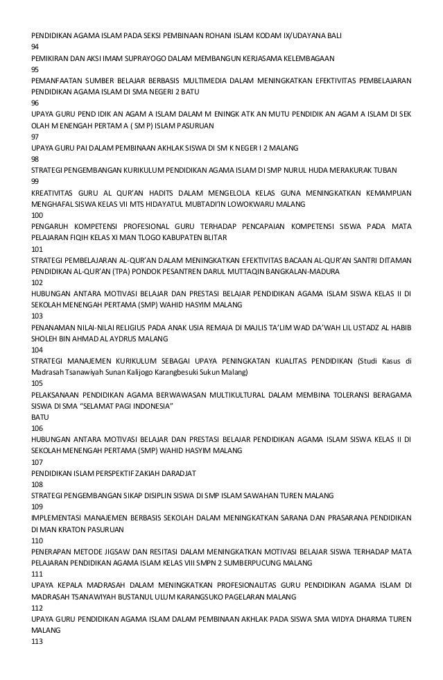Daftar Judul Skripsi