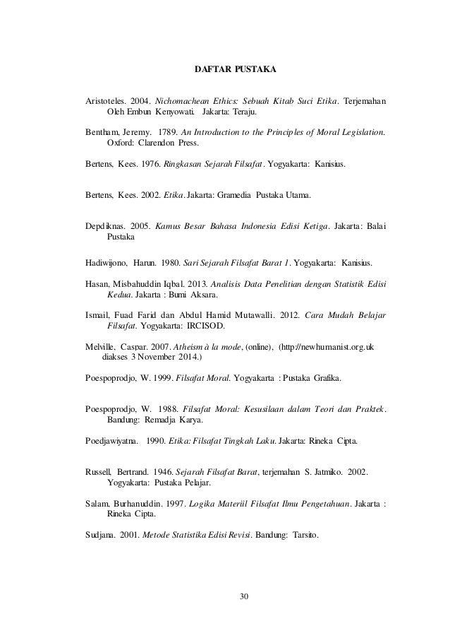 Daftar Pustaka Makalah Bahasa Indonesia Hedonisme Di Lingkungan S