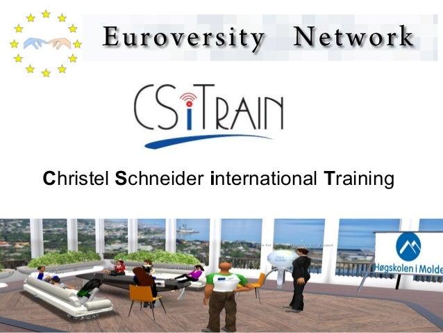 Christel Schneider international Training
