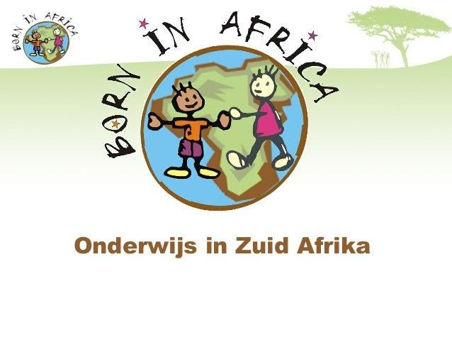 Onderwijs in Zuid Afrika