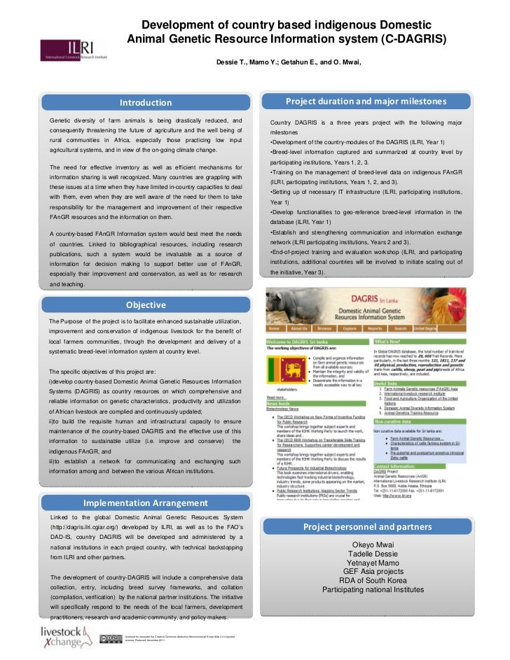 Development of country based indigenous Domestic                                Animal Genetic Resource Information system...