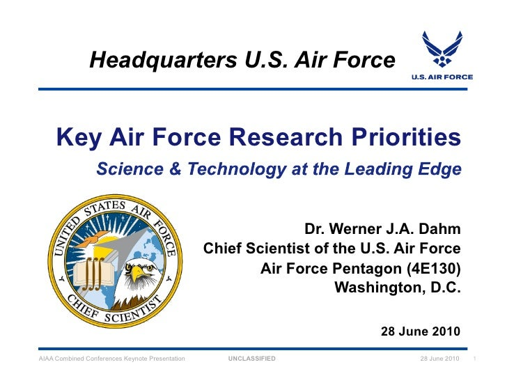 Headquarters U.S. Air Force        Key Air Force Research Priorities                                                      ...
