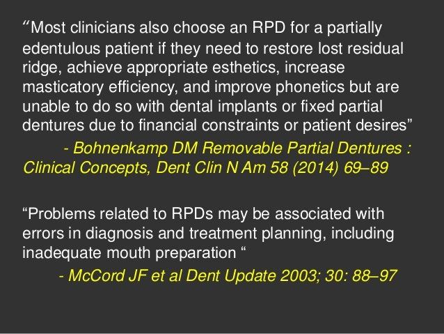 Diagnosis and treatment planning in removable partial denture Slide 3